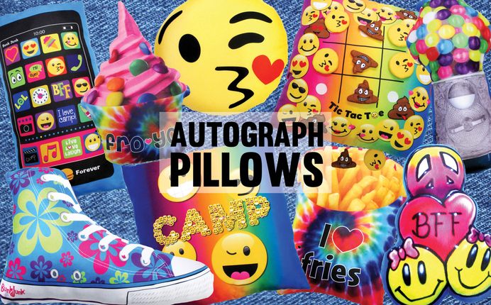 NEW Autograph Pillows!