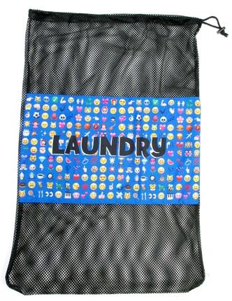 Multi Blue Icons Laundry Bag Bunk Junk 174 Laundry Bags