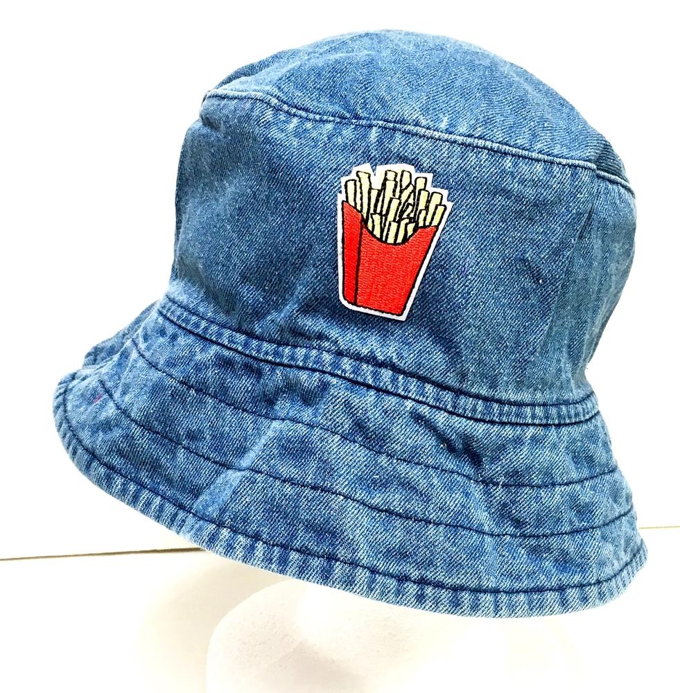 1c3047effca Denim Patched Bucket Hat