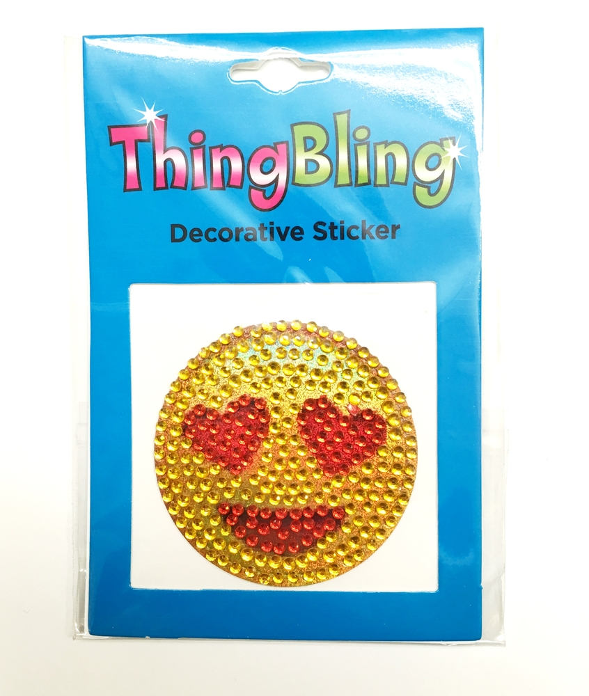 Rhinestone Heart Smile Thing Bling Stickers Thing Bling