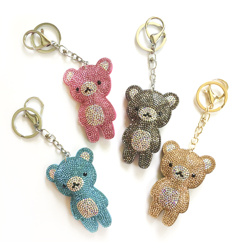 Rhinestone Bear Keychain Rhinestone Keychains Amp Bag Tags