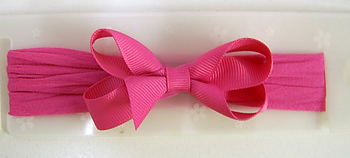 Image Infant Grosgrain Bow On Stocking Headband