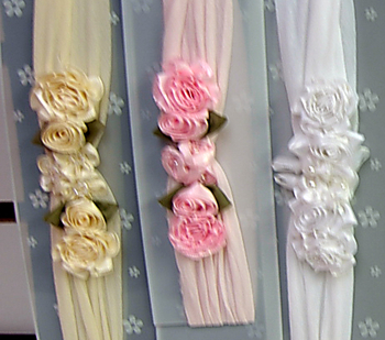 Image Satin Flower Cluster Stocking Headband