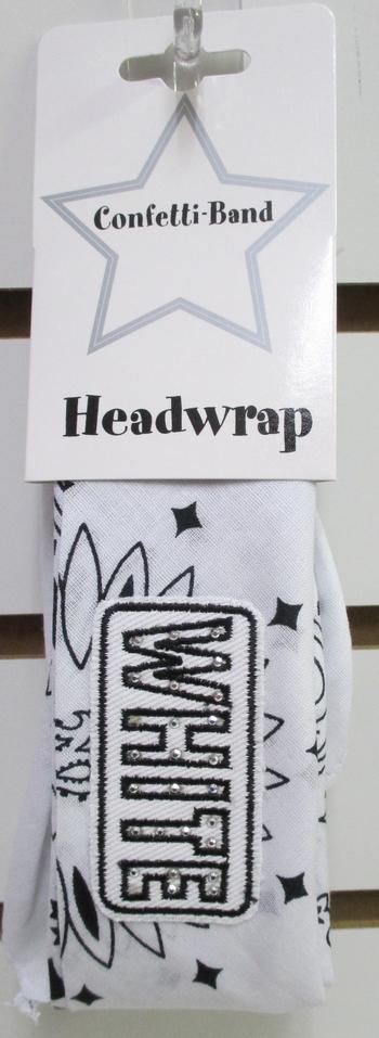 Image Folded Bandana Denim Color War Tie Headband