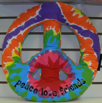 Image Tie Dye Peace Sign Autograph Pillow