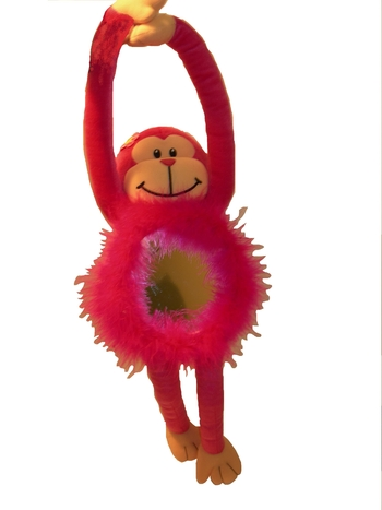 Image Monkey Mirror With Velcro Hands