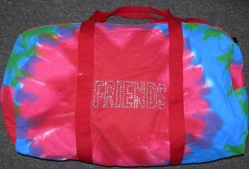 Image Tie Dye Friends Duffle Bag