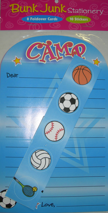 Image Girls Sport Camp Stationery