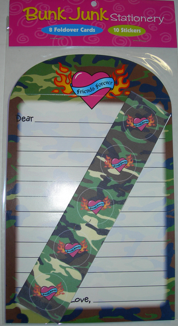 Image Camo Love Fold-over Stationery