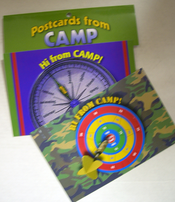 Image Dart Board/Compass Post Card Set