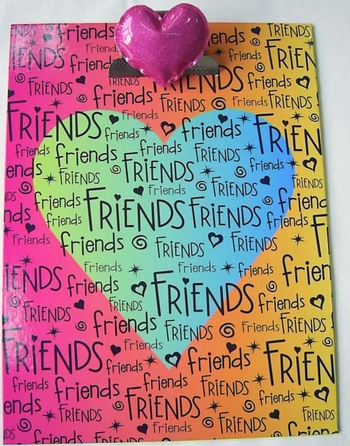 Image Friends Heart Clipboard