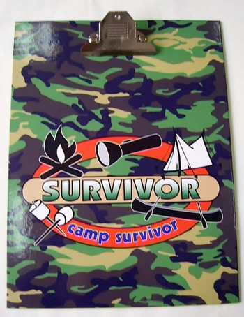 Image Camp Survivor Clipboard