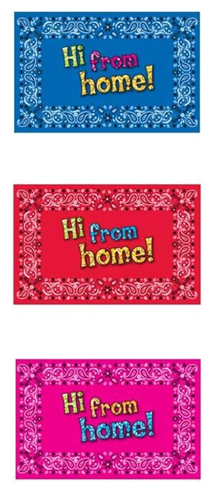 Image From Home Bandana Post Card Set