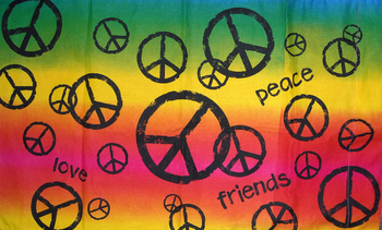 Image Stamp Peace Pillow Case