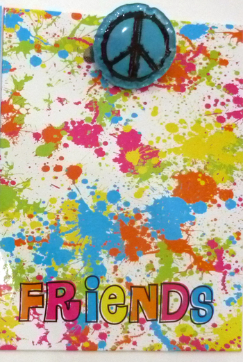 Image Friends Splatter Clipboard