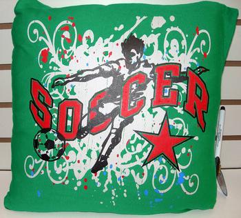 Image BJ494 Soccer Autograph Pillow