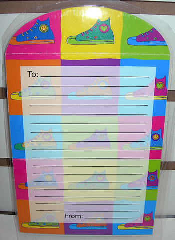 Image Sneaker Fold-over Stationery