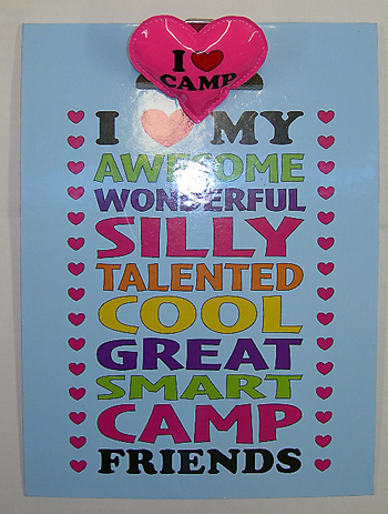 Image I Love My Camp Friends Clipboard