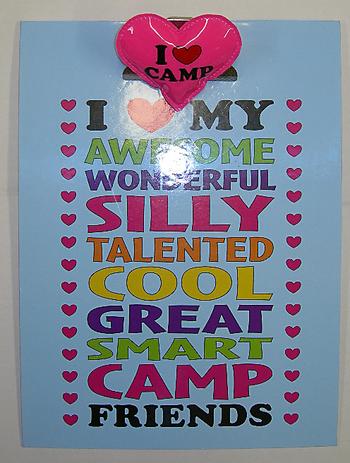 Image I Love My Camp Friends Clipboard