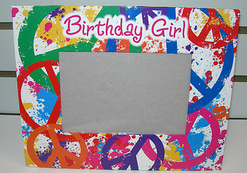 Image Birthday Girl Peace Autograph Frame