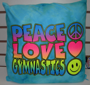 Image Peace Love Gymnastics Autograph Pillow