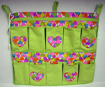 Image Rainbow Hearts 10 Pocket Shoe Bag