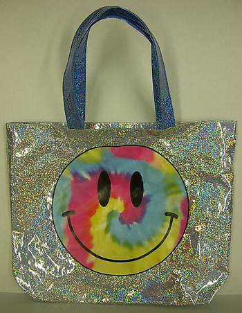 Image Metallic Rainbow Smile Tote Bag