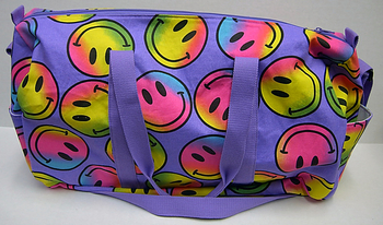 Image Purple Rainbow Smile Canvas Duffel