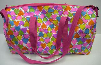 Image Rainbow Heart Rainbow Heart Canvas Duffel