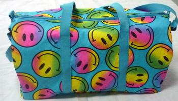 Image Turquoise Rainbow Smile Canvas Duffel