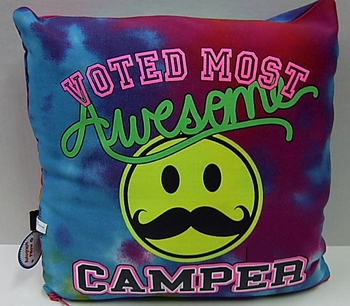Image Voted Most Awesome Camper Autograph Pillow