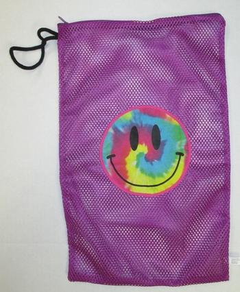 Image Purple Tye Dye Smile Zippered Sock Bag