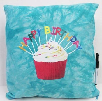 Image BJ658 Happy Birthday Cupcake Pillow