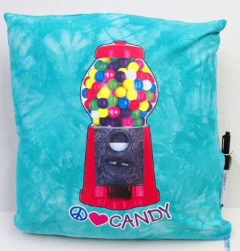 Image BJ659 I Love Candy Gumball Pillow