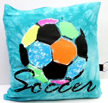 Image Rainbow Soccer Autograph Pillow