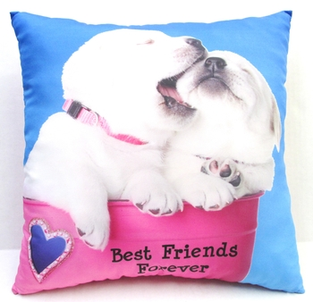Image Dogs Autograph Friends Forever Pillow