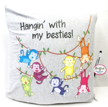 Image Hanging with my Besties Autograph Pillow