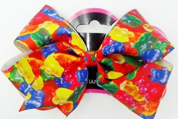 Image Gummy Bear Grossgrain Bow