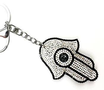 Image Rhinestone Keychains & Bag Tags