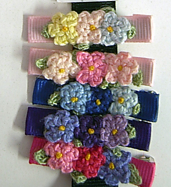 Image Triple Crochet Flower Clippie