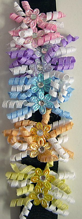 Image Grosgrain Tiny Curly Barrette Pairs