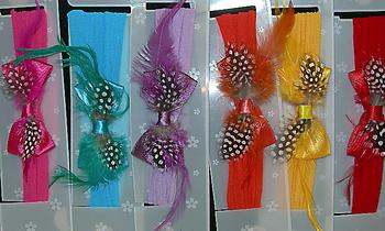 Image Satin Feather Stocking Headband