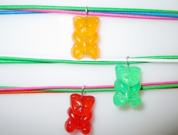 Image Gummy Bear triple Stretch Necklace