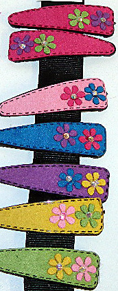 Image Suede Flower Snappy Pair