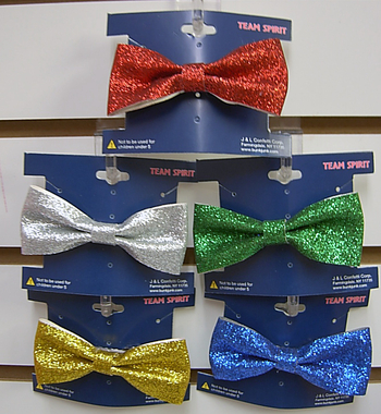 Image Color War Sparkle Clip on Bow