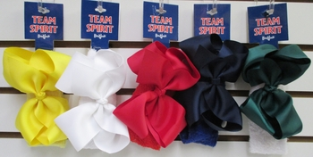 Image Color War Bow Terry Headband