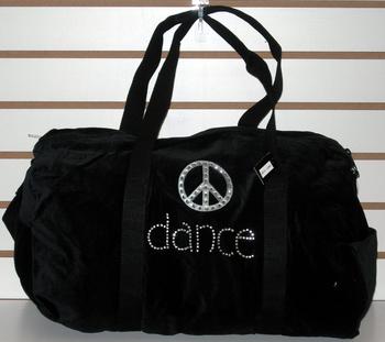 Image Black Velvet Dance Peace Duffle