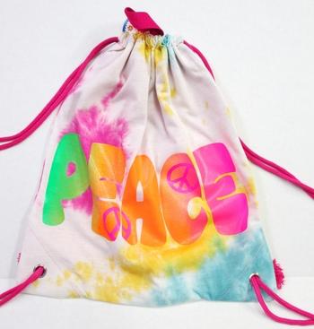 Image Tie Dye Sweatshirt Drawstring Bag
