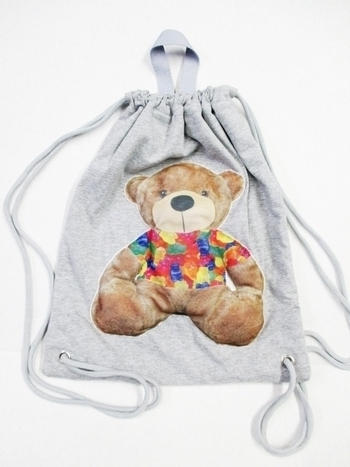 Image Puffy Jersey Teddy Sling Bag