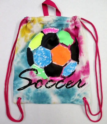 Image Rainbow Soccer Ball Jersey Sling Bag